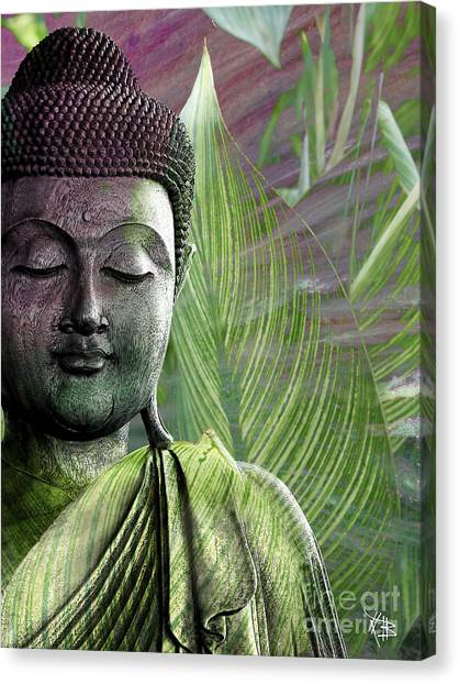 Buddha Canvas Print - Meditation Vegetation by Christopher Beikmann
