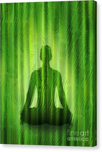 Yogi Canvas Print - Meditation Waves by Lutz Baar