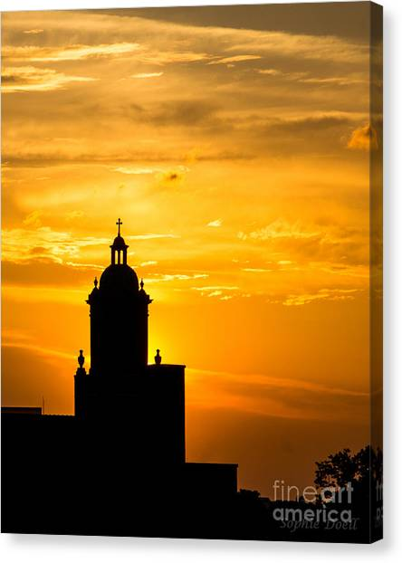 Meditative Sunset Canvas Print