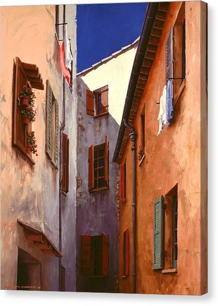 Mediterranean Blue Canvas Print by Michael Swanson