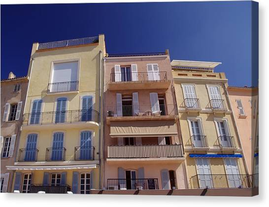 Mediterranean Coastline Appartments Canvas Print by Ioan Panaite