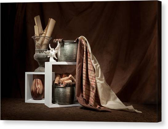 Dove Canvas Print - Medley Of Textures Still Life by Tom Mc Nemar