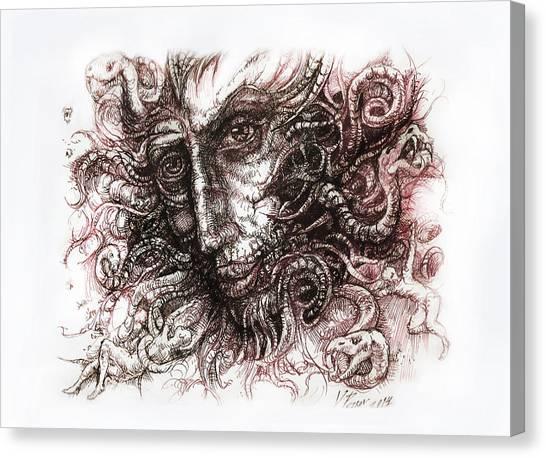 Medusa Canvas Print by Vladimir Petrov