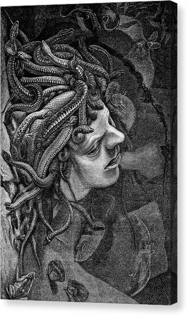 The Uffizi Gallery Canvas Print - Medusa's Head by Collection Abecasis