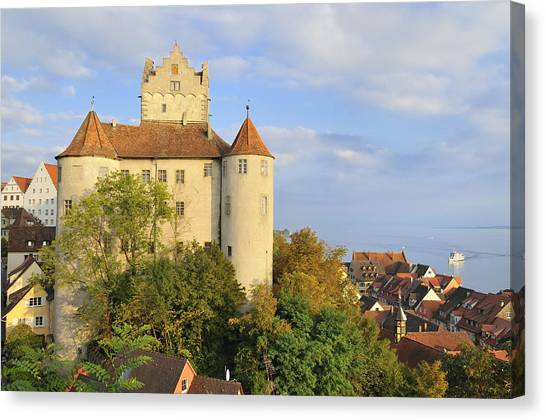 Meersburg Castle And Town Germany Canvas Print by Matthias Hauser