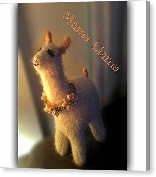 Llamas Canvas Print - Meet Mama Llama...my Lucky #13 by Debi Tenney