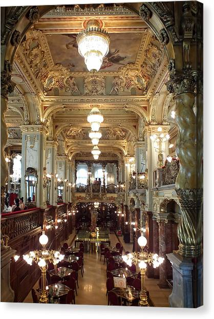 Meet Me For Coffee - New York Cafe - Budapest Canvas Print