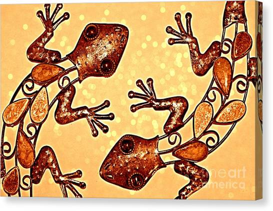 Meet The Geckos Canvas Print