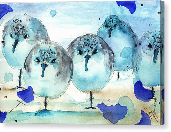 Meet The Sanderlings Canvas Print