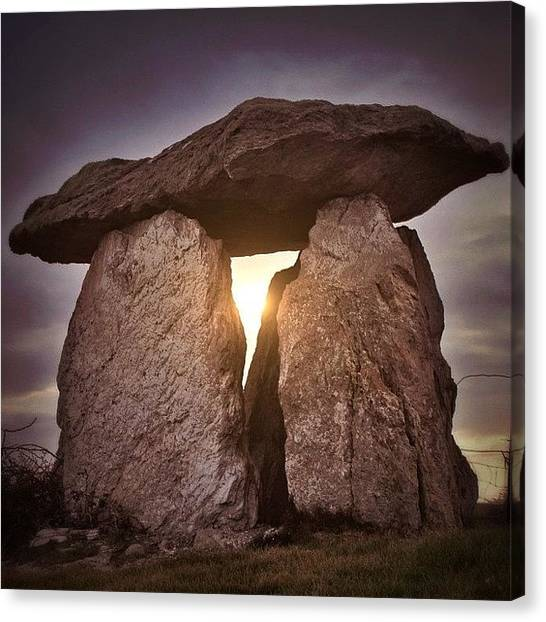 Magicians Canvas Print - Megalith Anglesey by Phil Tomlinson