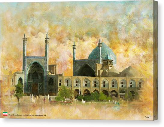 Iranian Canvas Print - Meidan Emam Esfahan by Catf