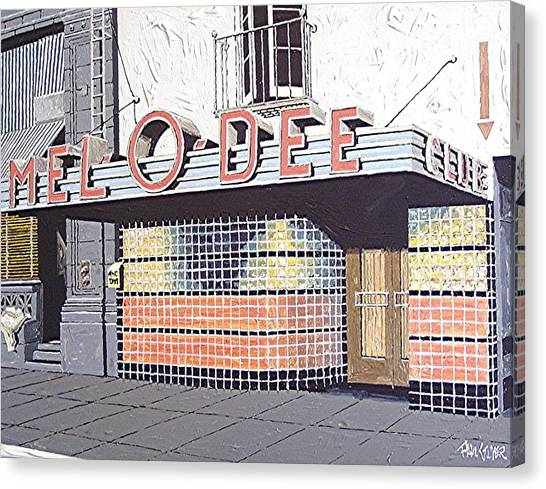 Mel O Dee Club Canvas Print by Paul Guyer