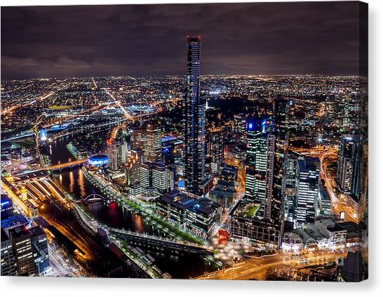 Melbourne At Night IIi Canvas Print
