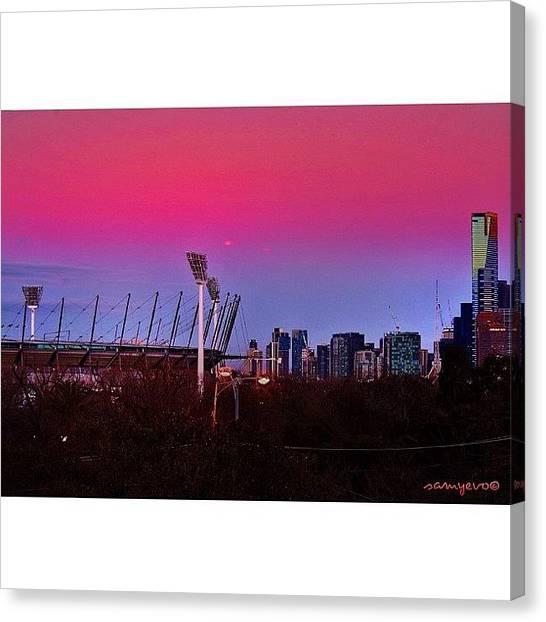 Australian Canvas Print - #melbourne #mcg #eurekaskydeck by Sammy Evans