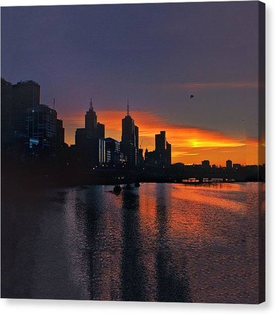 Australian Canvas Print - #melbourne #sunrise #yarrariver by Sammy Evans