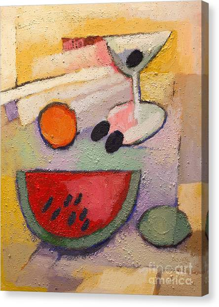 Melons Canvas Print - Melon Martini by Lutz Baar