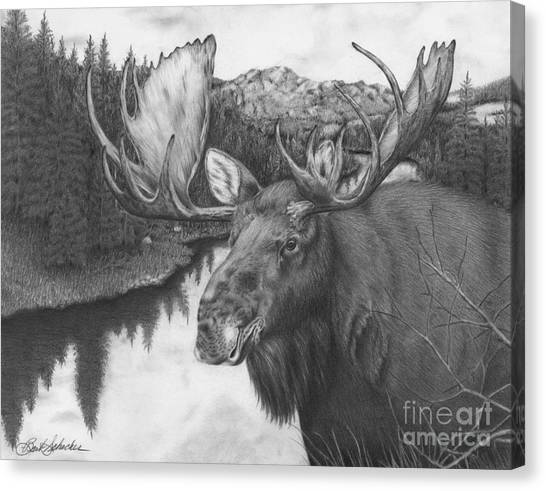 Melozi River Moose Canvas Print