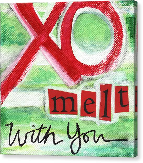 Kiss Canvas Print - Melt With You by Linda Woods