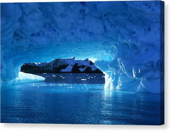 Melting Ice Cave Antarctica Canvas Print