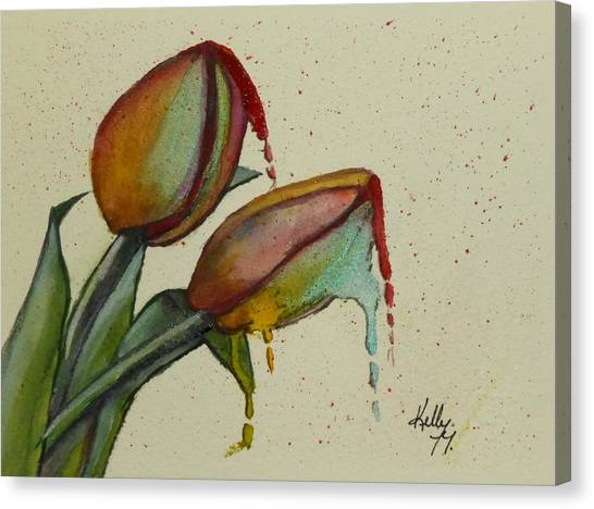 Melting Tulips Canvas Print