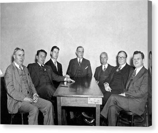 Nra Canvas Print - Members Of The Nra Board by Underwood Archives