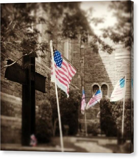 Law Enforcement Canvas Print - Memorial.  #911 #nyc #fdny #nypd by Terry Lynn Lecompte