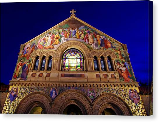 Stanford Canvas Print - Memorial Church At Night by Scott McGuire