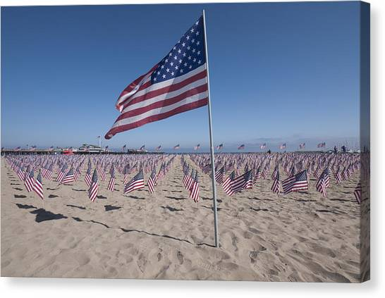 Ucsb Canvas Print - Memorial For 9-11 Santa Barbara Ca  by David Litschel