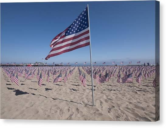 Ucsb Canvas Print - Memorial For 9-11 Santa Barbara Ca  by David Litschel