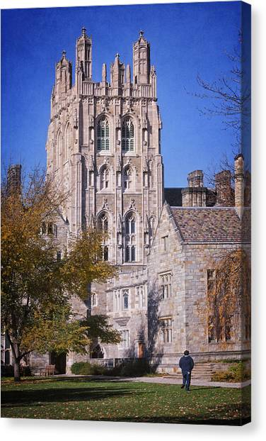 Yale Canvas Print - Memorial Quadrangle Yale University by Joan Carroll