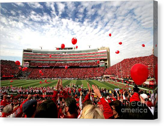 Lincoln Memorial Canvas Print - Memorial Stadium by Jennifer Mecca