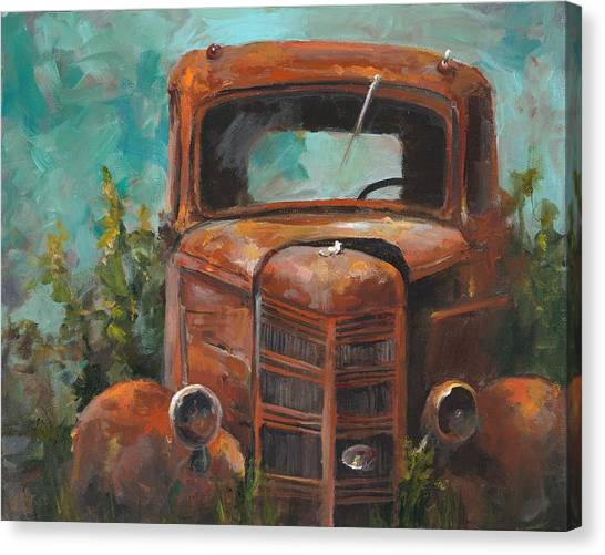 Rusty Truck Canvas Print - Memories by Cari Humphry