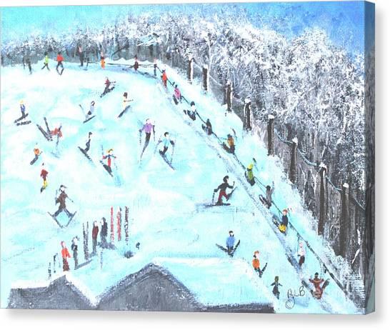 Memories Of Skiing Canvas Print