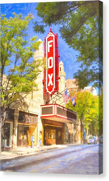 Canvas Print featuring the photograph Memories Of The Fox Theatre by Mark E Tisdale