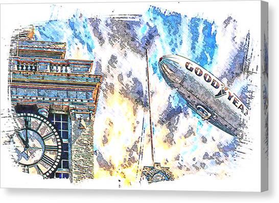 Memories Of The Hindenburg Canvas Print by Ken Evans