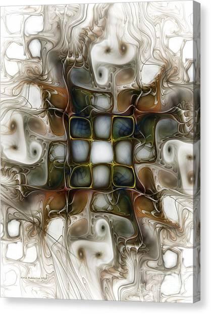 Memory Boxes-fractal Art Canvas Print