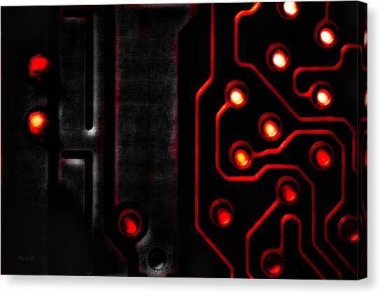 Nsa Canvas Print - Memory Chip Bwr by Bob Orsillo