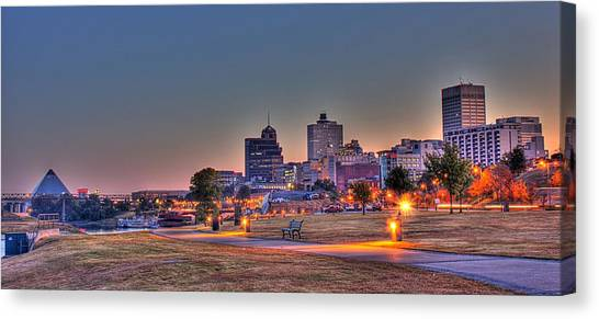 Mississippi River Canvas Print - Cityscape - Skyline - Memphis At Dawn by Barry Jones