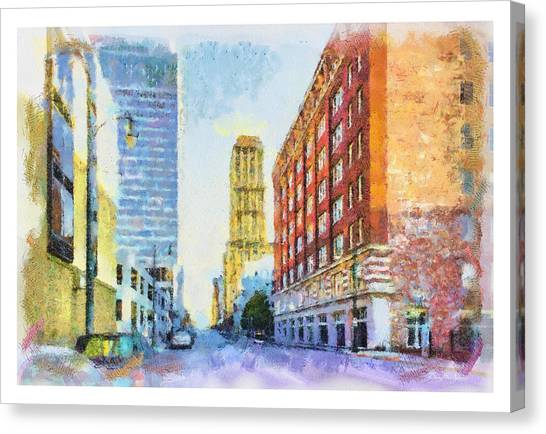 Memphis Grizzlies Canvas Print - Memphis City Street by Barry Jones