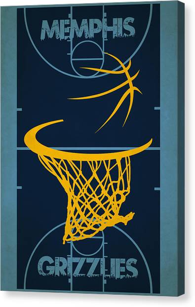 Memphis Grizzlies Canvas Print - Memphis Grizzlies Court by Joe Hamilton