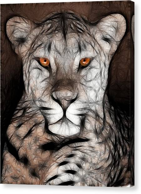 Memphis Leopard Artwork Canvas Print