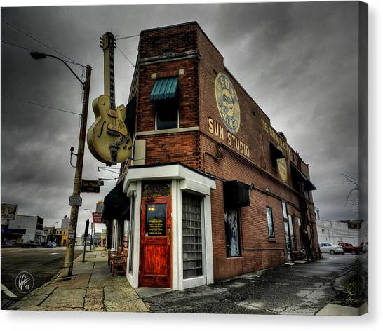 Johnny Cash Canvas Print - Memphis - Sun Studio 004 by Lance Vaughn