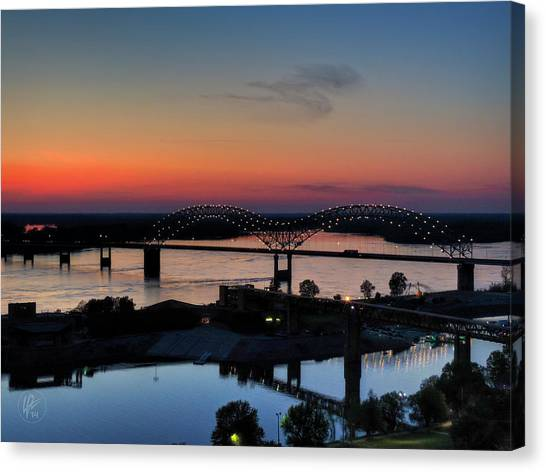Memphis Sunset On The Mississippi 004 Canvas Print