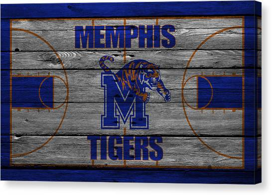Ball State University Canvas Print - Memphis Tigers by Joe Hamilton