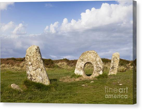 Moorland Canvas Print - Men-an-tol Cornwall by Colin and Linda McKie