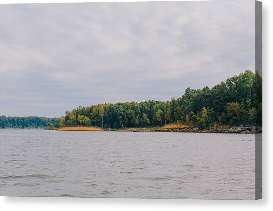 Men Fishing On Barren River Lake Canvas Print