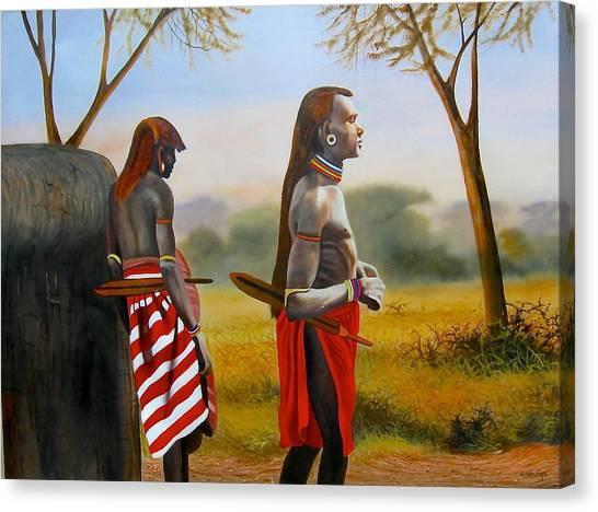 Men Of The Maasai Canvas Print