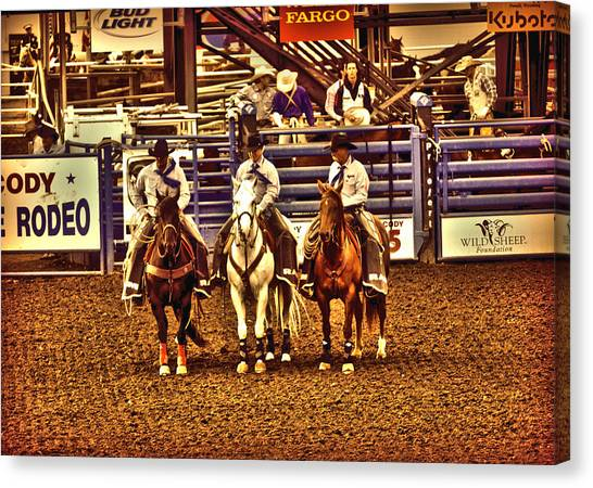 Rodeo Clown Canvas Print - Men Of The Rodeo by Lisa Holland-Gillem