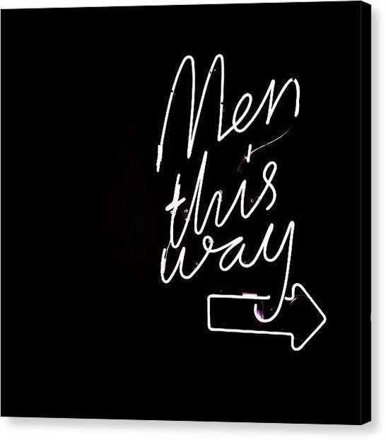 Men Canvas Print - Men This Way => - Miami ( Neon Lighting by Joel Lopez