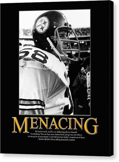 John Elway Canvas Print - Menacing Jack Lambert by Retro Images Archive